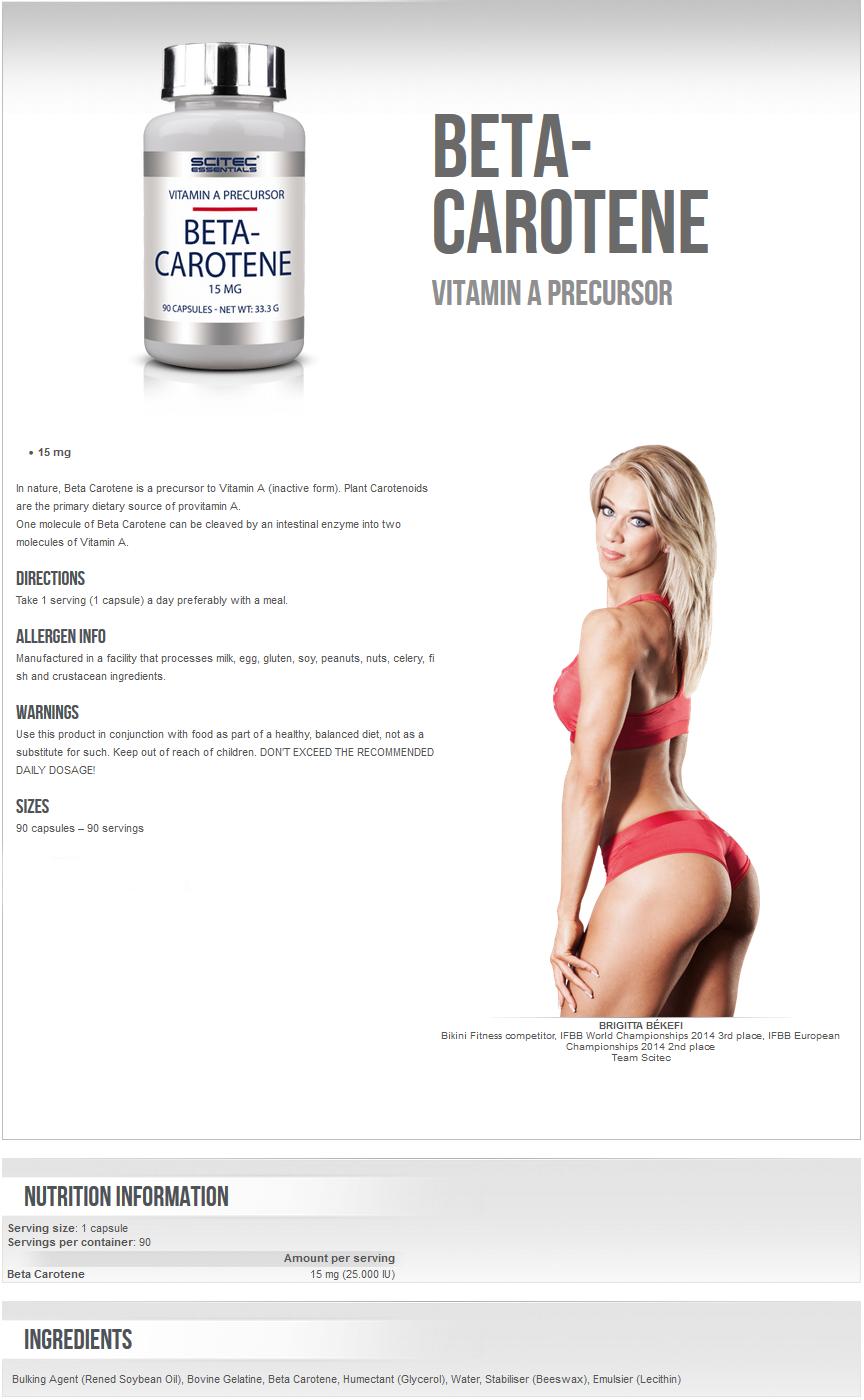 Beta-Carotene 90-270 Caps. Tanning Pills Healthy Tan